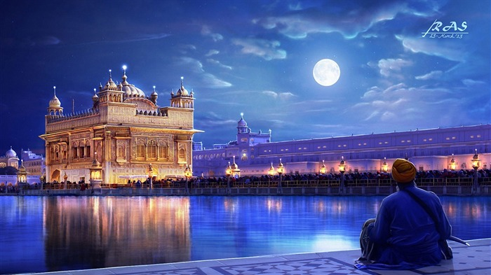 Golden temple amritsar punjab india-Cities HD Wallpaper Views:1566