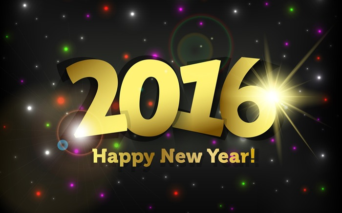 Happy New Year 2016 HD Desktop Wallpaper Views:9464
