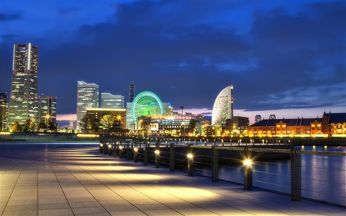 Japan yokohama port night-Cities HD Wallpaper Views:2435