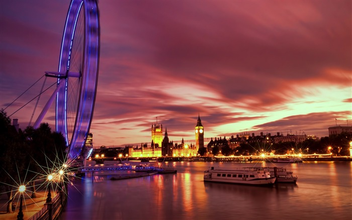 London Ferris Wheel Night-Cities HD Wallpaper Views:1038