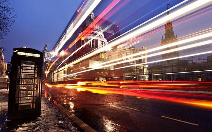 London street road light exposure-Cities HD Wallpaper Views:1358