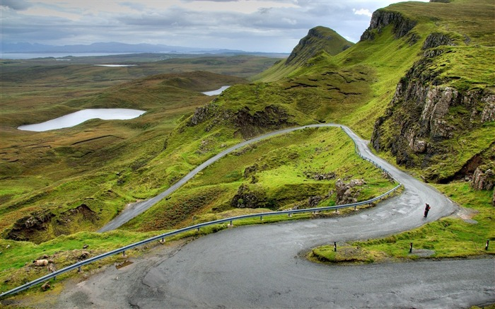 Mountains scotland road bends-scenery HD Wallpaper Views:2079