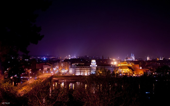 Prague Night View-High Quality Wallpaper Views:1707