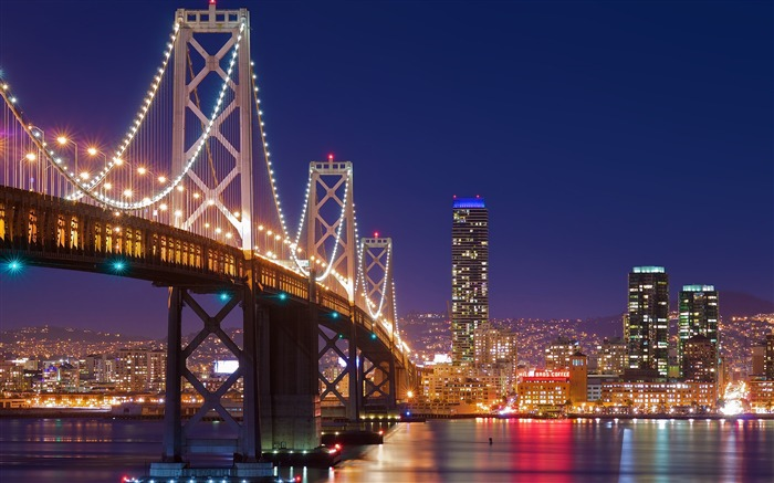 San francisco night bridge-Cities HD Wallpaper Views:1639