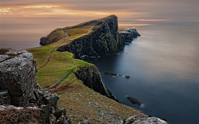 Scotland coast lighthouse-Earth Photo HD Wallpaper Views:3244