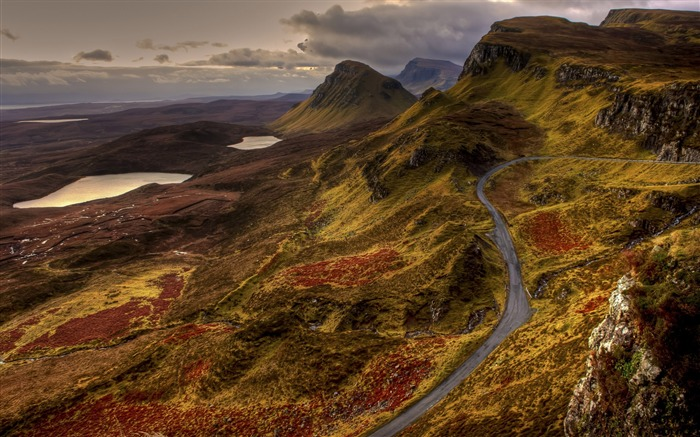 Scotland road landscape-Nature Photo HD Wallpaper Views:2197