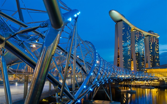 Singapore helix bridge-Cities HD Wallpaper Views:1342