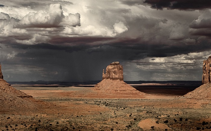 Storm in Monument Valley-November 2015 Bing Wallpaper Views:2293