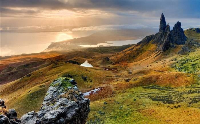 Storr hill panorama scotland-Nature Photo HD Wallpaper Views:2758