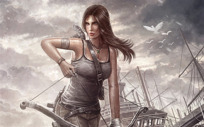 Tomb Raider Lara Croft Game HD Wallpaper Views:4255