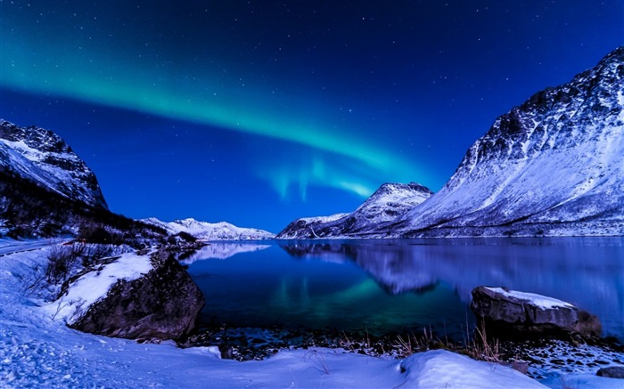 Winter Night Aurora-2015 Landscape Wallpaper Views:1934