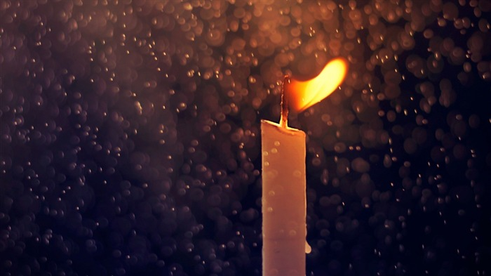 fire candle and raindrops-High Quality HD Wallpaper Views:1248