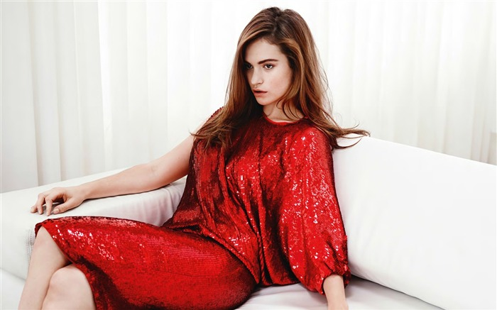 lily james red dress-beauty photo wallpaper Views:2548