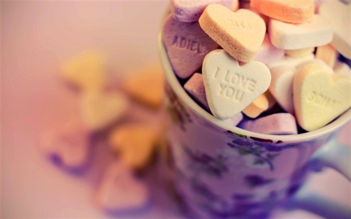 love hearts food in cup-High Quality HD Wallpaper Views:1478