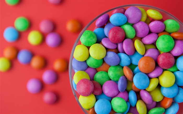 Candy colorful bowl-High Quality HD Wallpaper Views:2797
