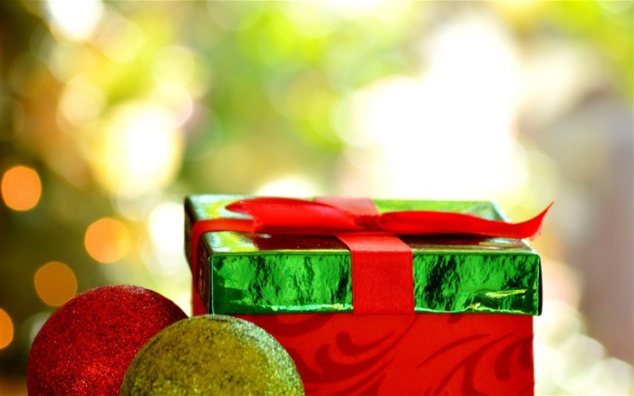 Christmas new year gift box-Holiday Theme HD Wallpapers Views:2033