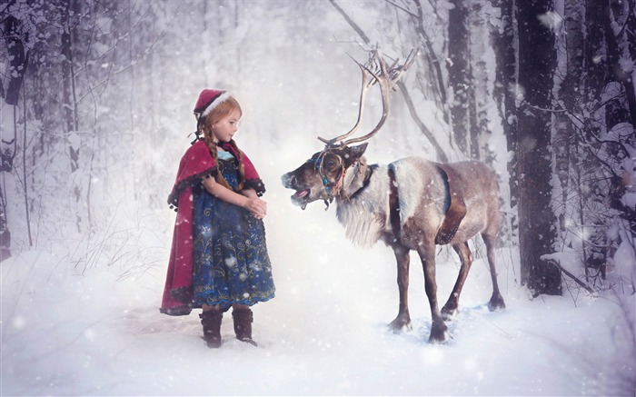 Christmas reindeer-2016 Merry Christmas Wallpaper Views:2188