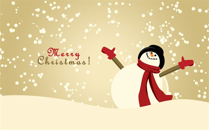 Happy snowman-Merry Christmas New YearWallpaper Views:3852