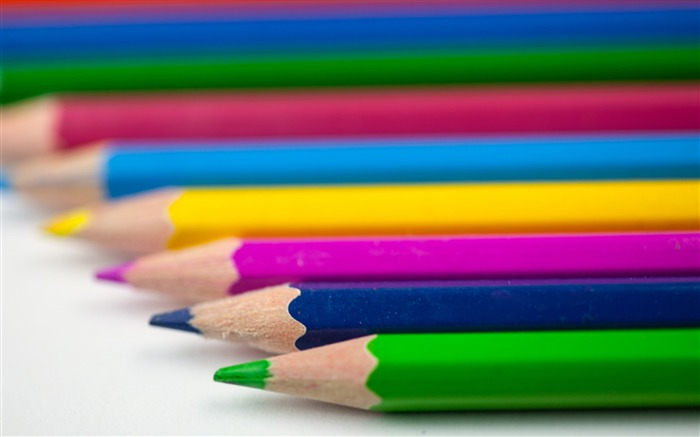 Pencils colorful sharpened-High Quality HD Wallpaper Views:823