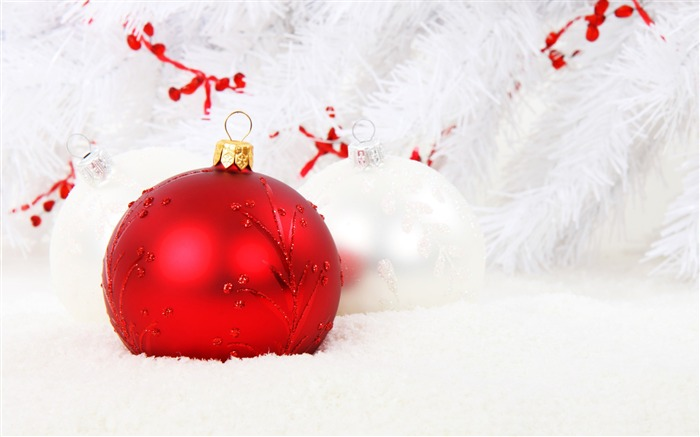 Red Christmas decorations-2016 Merry Christmas Wallpaper Views:2185