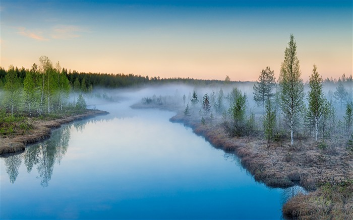 Rivers mist rising-Nature theme wallpaper Views:1982