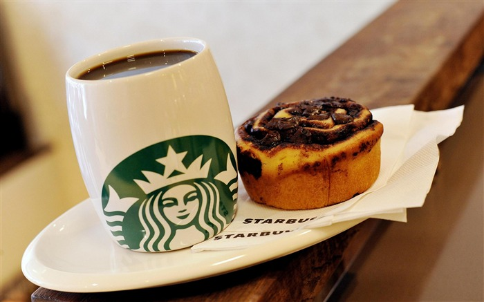 Starbucks coffee cake-photography HD wallpaper Views:2180