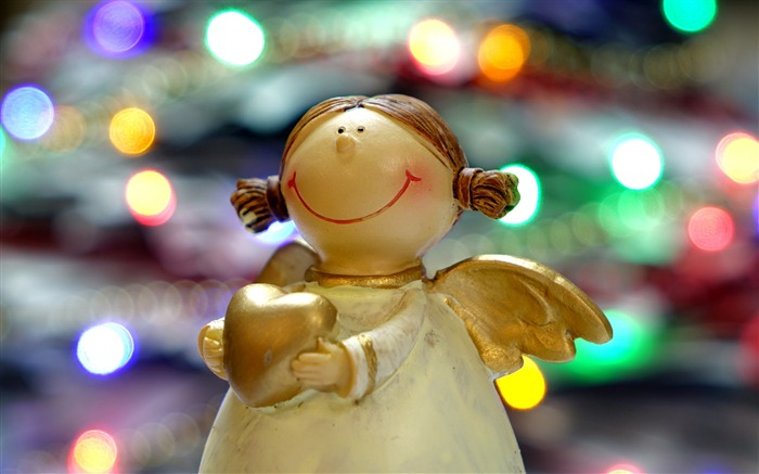 Angel christmas reflections statue-High Quality HD Wallpaper Views:2007