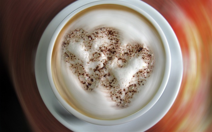 Coffee cappuccino foam-photography HD wallpaper Views:1768