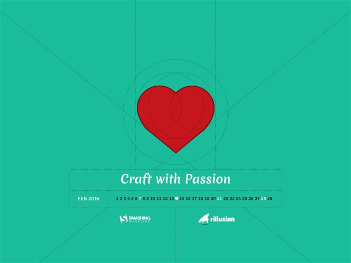 Craft With Passion-February 2016 Calendar Wallpaper Views:2295