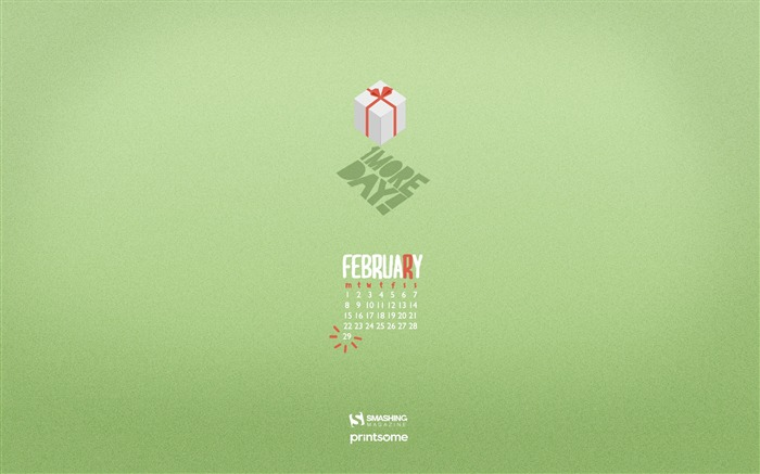 Februarys Gift-February 2016 Calendar Wallpaper Views:2254