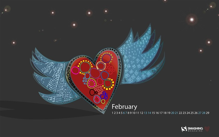 Set Your Love Free-February 2016 Calendar Wallpaper Views:1501