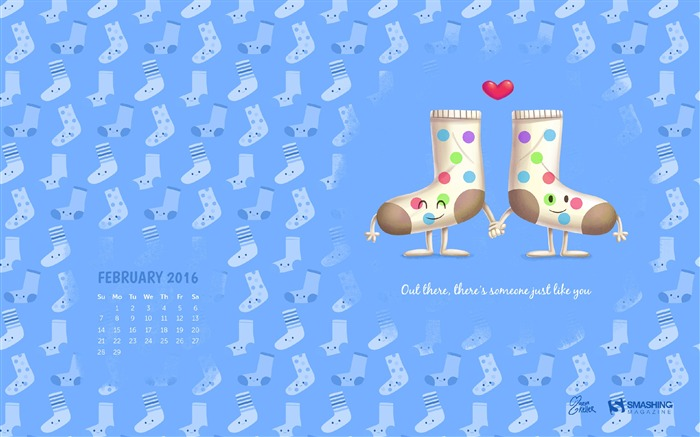 There is Someone Like You-February 2016 Calendar Wallpaper Views:2269