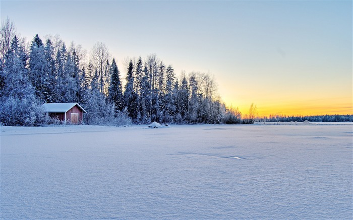 Cold Winter Nature Landscapes Theme HD Wallpaper Views:6812