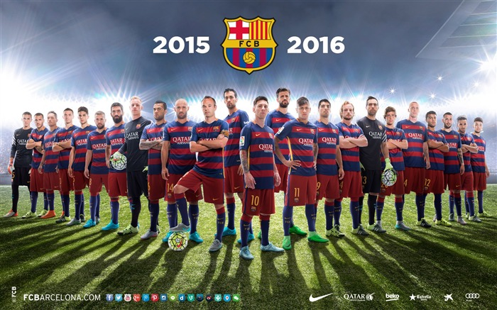 2015-2016 FC Barcelone Football Club HD Fonds d'écran Vues:13072