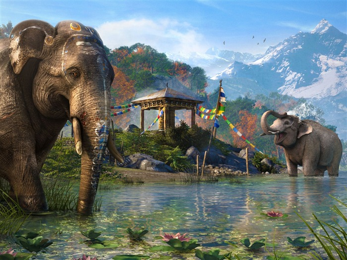 Far Cry 4 Elephants-Game High Quality Wallpaper Views:2317