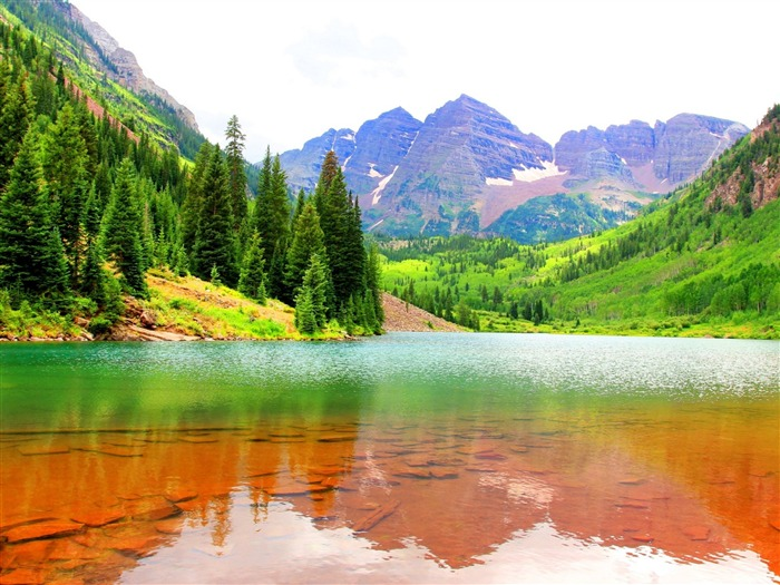 Mountains lake maroon-Perfect Scenery HD Wallpaper Views:1097