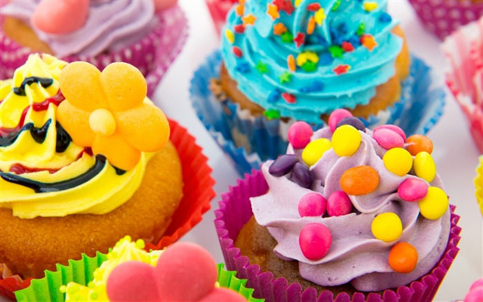 Sweet cupcakes food theme HD desktop wallpaper 02 Views:1502