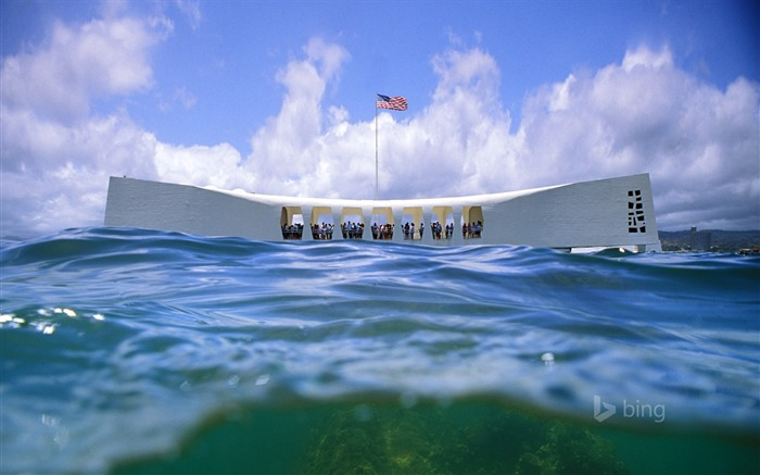 USS Arizona Memorial Pearl Harbor-2016 Bing Desktop Wallpaper Views:1038