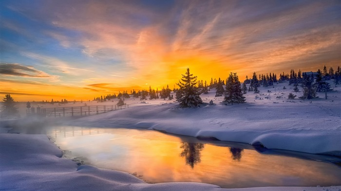 hot haze cold morning norway-Perfect Scenery HD Wallpaper Views:1777