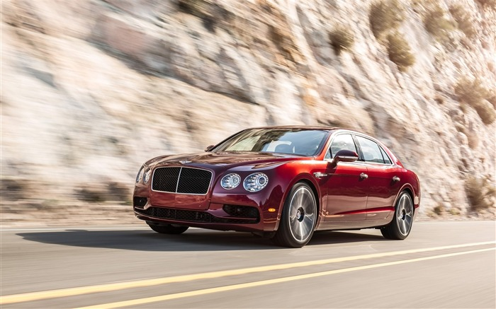 2016 Red Bentley Flying Spur V8 S Auto HD Wallpaper Views:5493