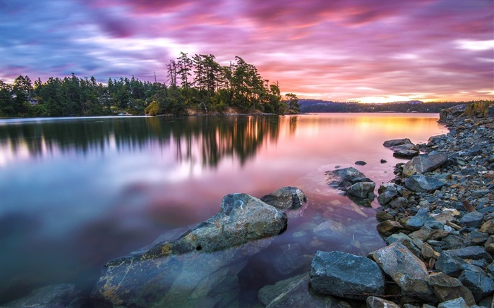 Amazing sunset colors reflected-Nature Scenery HD Wallpaper Views:2380