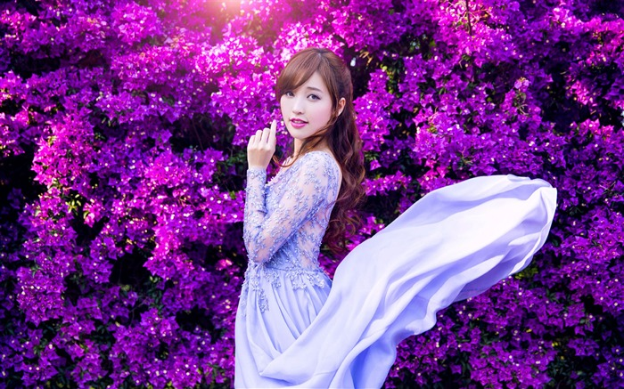 Asian fashion pure beauty girl photo wallpaper Views:6841