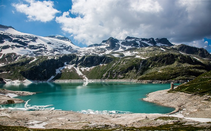 Austrian alps lake mountains-Nature Photo HD Wallpaper Views:2209