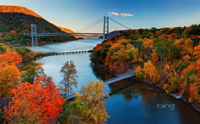 Title:Bear Mountain Bridge Hudson River Valley-2016 Bing Desktop Wallpaper Views:1553