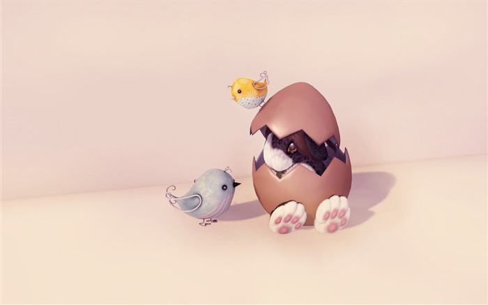 Easter egg bunny-High Quality Wallpaper Views:1456