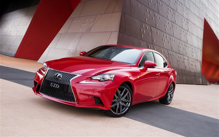 Lexus is red side view-High Quality HD Wallpaper Views:1524