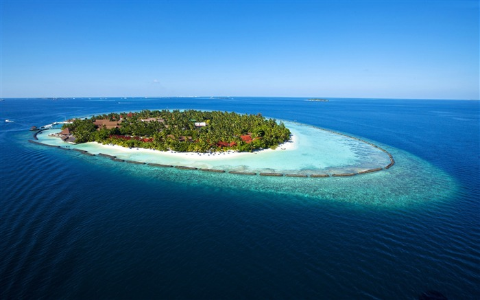 Maldives Vacation travel island ocean-Nature Photo HD Wallpaper Views:1861