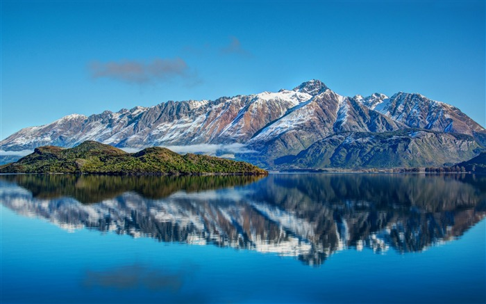 New Zealand mountain sea sky-Nature Photo HD Wallpaper Views:1992