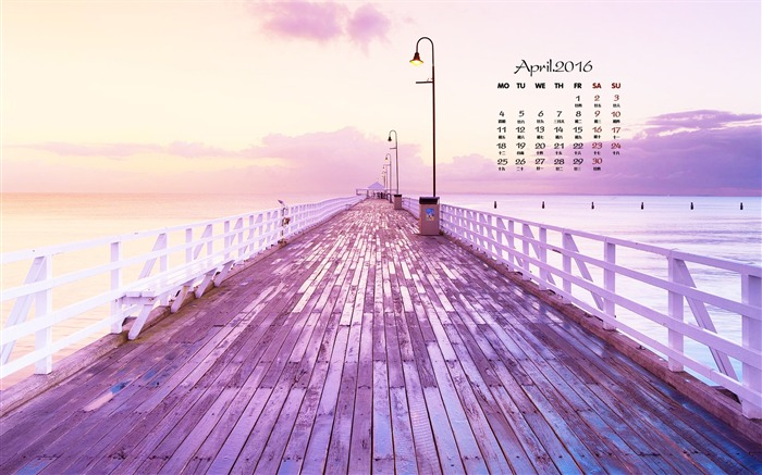 Purple trestle-April 2016 Calendar Wallpaper Views:781