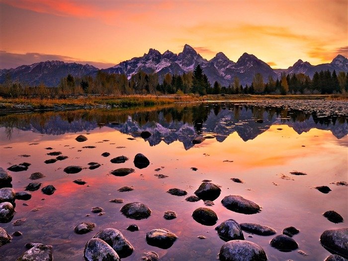 Sunset grand teton national park-Nature photography HD wallpaper Views:1592